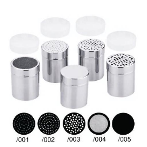 Gewürzdose/Streuer 003/4mm-Lochung,Inhalt 0,30l. m.Deckel u.Kunststoffkappe