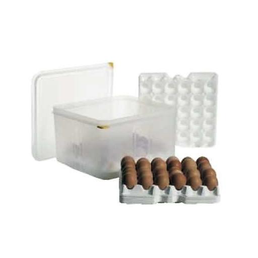 Eier-Box GN 2/3 klar,f.30 Eier pro Tablett inkl. 8 Eiertabletts AV