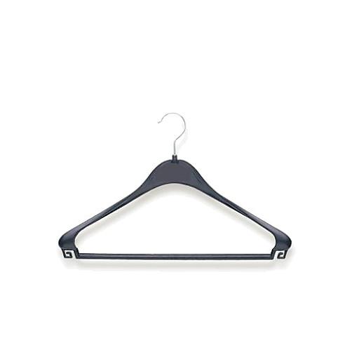 Kleiderbügel Plastik m.Steg u.Haken schwarz,100 i./Karton ED