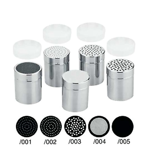 Gewürzdose/Streuer 004/Siebnetz,Inhalt 0,30l. m.Deckel u.Kunststoffkappe