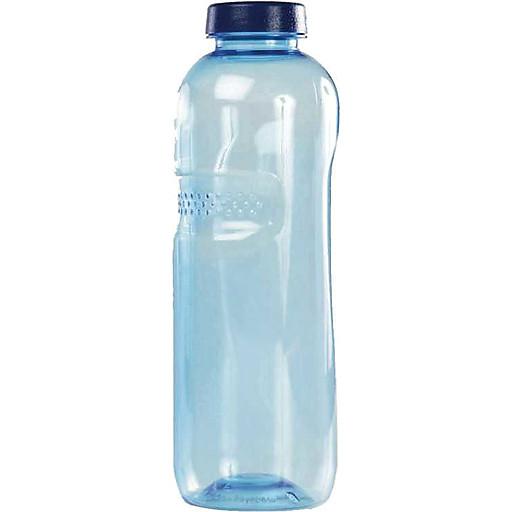 Mehrwegflasche 1000ml m.Schraubdeckel,transparent blau IMH