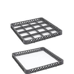 Geteilter Aufsatz 20 Fächer,(BxTxH) 500x500x45mm grau CT