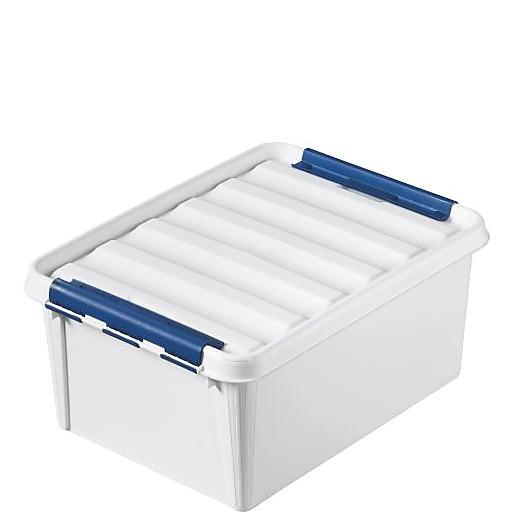 Box Robust 31l. weiß,m.Verschlussclips stpl. u.Lebensmittelecht