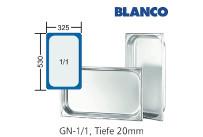 GN-Behälter 1/1-20mm,(BxTxH) 530x325x20mm CNS Blanco