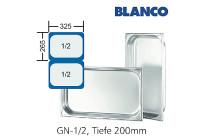GN-Behälter 1/2-200mm,(BxTxH) 265x325x200mm CNS Blanco
