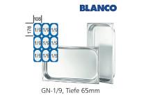 GN-Behälter 1/9-65mm,(BxTxH) 176x108x65mm CNS Blanco