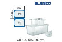 GN-Behälter 1/2-100mm,(BxTxH) 265x325x100mm Polycarbonat Blanco