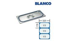 GN-Deckel 1/3 Blanco GDD CNS,m.Dichtung u.Griffmulde
