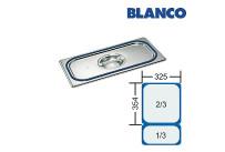 GN-Deckel 2/3 Blanco GDD CNS,m.Dichtung u.Griffmulde