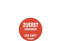 Etiketten: Zuerst verwenden 55mmØ,500 i./Rolle EKP