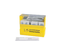 Pflasterspender Detectable Kunststoff gelb,befüllt 130 Pflasterwundverbände WSÖ
